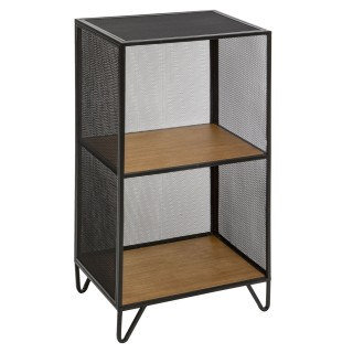 Etagère casier design industriel Bay - L. 40 x H. 76 cm - Noir