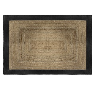 Tapis en jute naturel Poésie - L. 170 x l. 120 cm - Noir