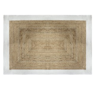 Tapis en jute naturel Poésie - L. 170 x l. 120 cm - Blanc