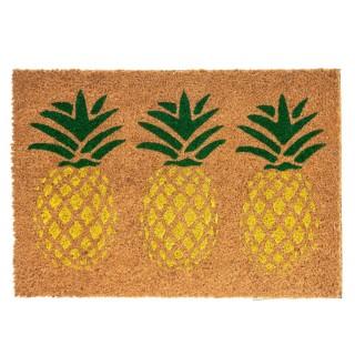 Paillasson design ananas Tropic - L. 40 x l. 60 cm - Marron