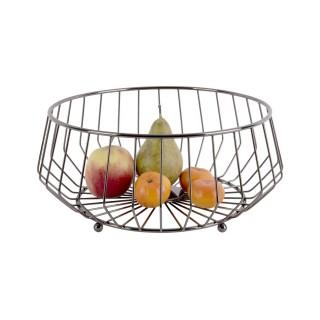 Corbeille à fruits design métal Kink - Gris fumé