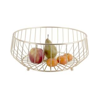 Corbeille à fruits design métal Kink - Doré
