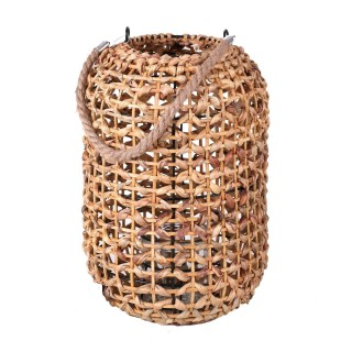 Lanterne ethnique en rotin Natural Living - H. 36 cm - Beige