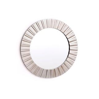 Miroir rond en métal design Champa - Diam. 50 cm - Argent