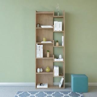 Etagère bibliothèque design bois Brooke - L. 60 x H. 162 cm