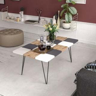 Table basse design Leaf - L. 110 x H. 40 cm - Gris