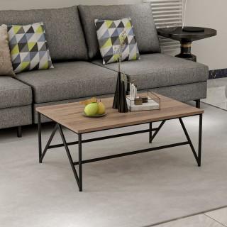 Table basse industrielle Hayes - L. 90 x H. 38 cm - Noir