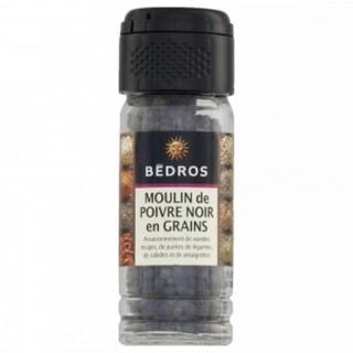 Moulin à poivre noir en grains - Bedros - pot 50g