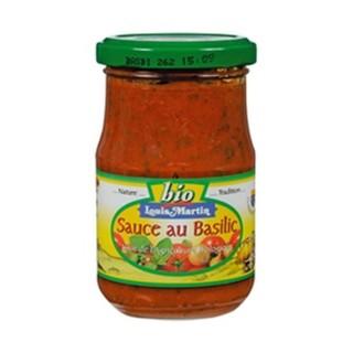 Sauce tomates basilic BIO - Louis Martin - pot 190g