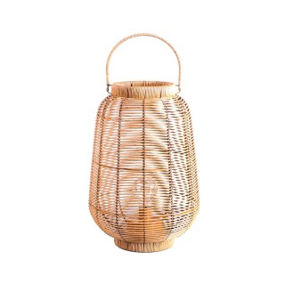 Lanterne ethnique tressée à LED Natural Living GM - Marron naturel