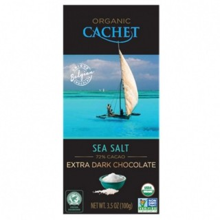 Chocolat noir fleur de sel BIO - Cachet - tablette 100g