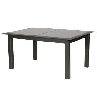 Table de jardin extensible 10 Personnes Allure - L. 160/254 cm - Gris rayé et graphite