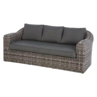 Canapé de jardin en résine tressée Moorea - 3 Places - Gris ombre