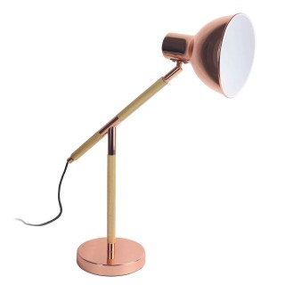 Lampe de bureau design industriel Alegria - H. 51 cm - Marron cuivré