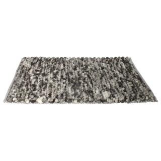 Tapis design scandinave effet boules Cocooning - L. 140 x l. 200 cm - Gris