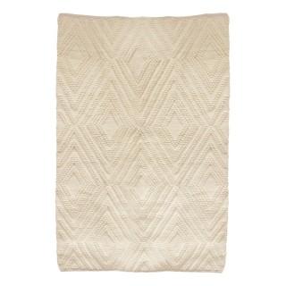 Tapis design ethnique Home - L. 120 x l. 170 cm - Blanc
