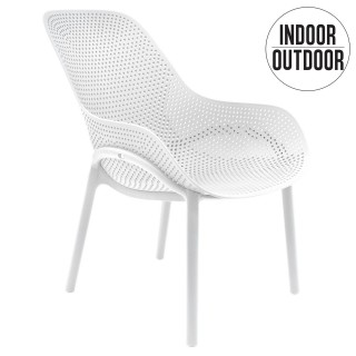 Fauteuil pour table de jardin design Malibu - Blanc