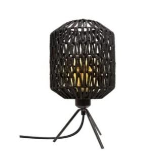 Lampe à poser design effet corde Roméo - H. 42 cm - Noir