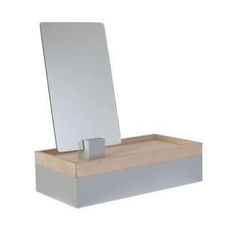 Boîte à bijoux design avec miroir Home - Gris