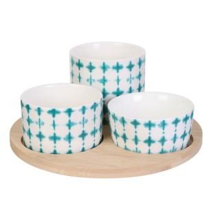 Set apéritif design bord de mer Azur - Bleu clair