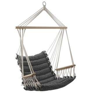 Hamac chaise design ethnique Jinja - L. 90 x H. 65 cm - Noir