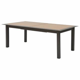 Table de jardin extensible 12 Personnes à lattes Allure - L. 216/316 cm - Gris et marron