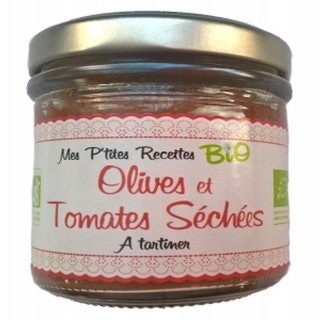 Tartinable BIO olives tomates séchées - Mes P'tites Recettes - pot 100g
