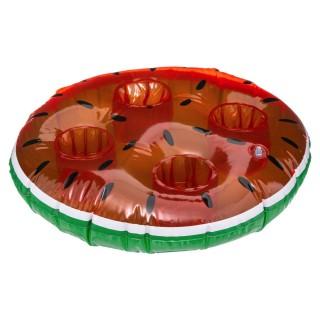 Bar gonflable pour piscine Pastèque - Diam. 45 cm - Rouge