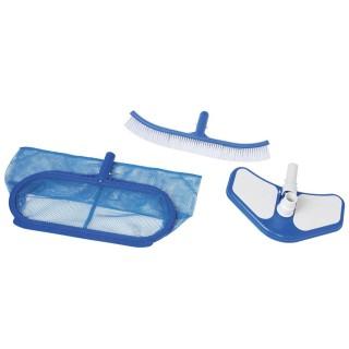 Kit matériel de nettoyage pour piscine Deluxe - 3 Accessoires