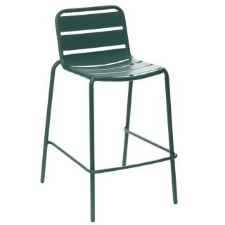 Chaise haute de jardin empilable design Phuket - Vert yucca
