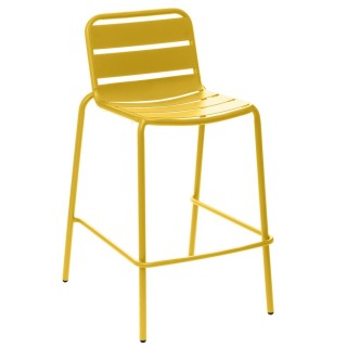 Chaise haute de jardin empilable design Phuket - Jaune moutarde