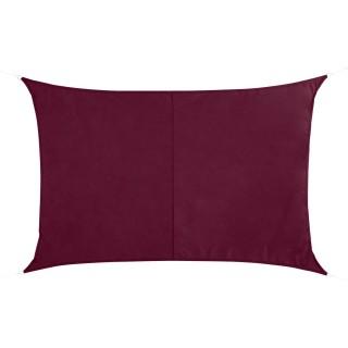 Voile d'ombrage rectangulaire Curacao - 2 x 3 m - Bordeaux