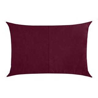 Voile d'ombrage rectangulaire Curacao - 3 x 4 m - Bordeaux