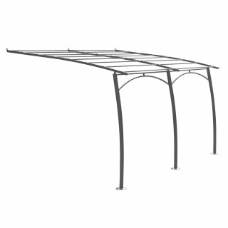 Structure pergola en aluminium Maldive - L. 400 x l. 300 cm - Gris ardoise