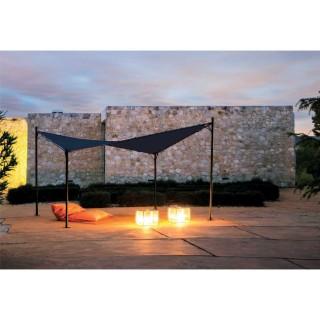 Tonnelle de jardin design papillon Issambres - L. 350 x l. 350 cm - Gris anthracite