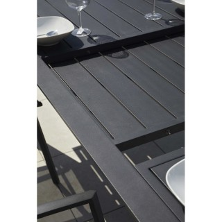 Table de jardin extensible design Bilbao - 12 Personnes - Noir