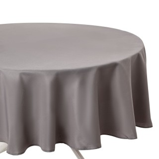 Nappe anti-taches ronde Ophy - Diam 180 cm - Gris