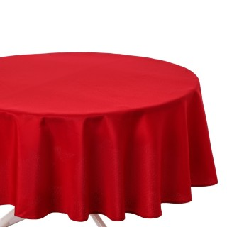 Nappe anti-taches ronde Ophy - Diam 180 cm - Rouge