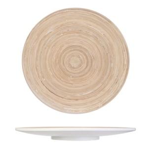 Assiette de présentation en bambou Cook - Beige
