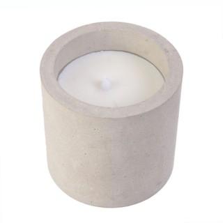 Bougie LED ronde design ciment Factory PM - Gris