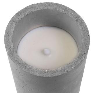 Bougie LED design ciment Factory - Gris