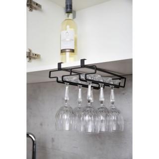 Rangement de placard cuisine - Porte 6 Verres - Noir