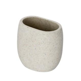 Gobelet de salle de bain design nature Puro - Beige