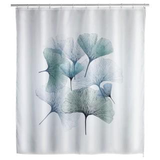 Rideau de douche anti-moisissure Ginkgo - Polyester - 180 x 200 cm - Gris