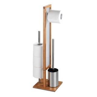 Valet WC design bambou Rivalta - H. 70 cm - Marron