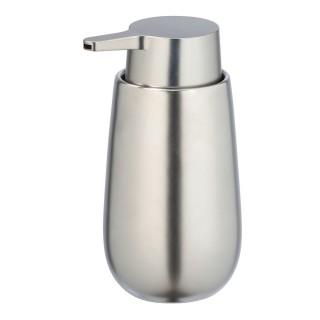 Distributeur de savon design mat Badi - Argent chromé