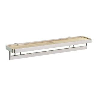 Etagère porte épices en bambou avec barre Alina - Blanc