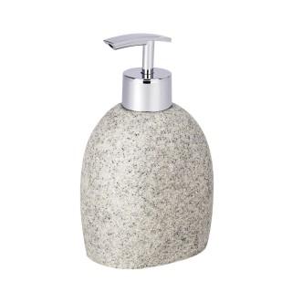 Distributeur de savon design nature Puro - Gris clair