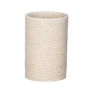 Gobelet de salle de bain design craquelé Peanut - Beige