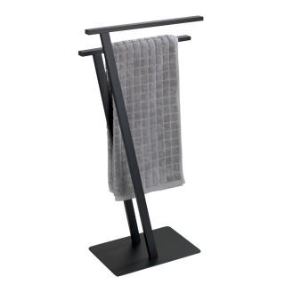 Porte-serviette design métal Lirio - L. 20 x H. 76 cm - Noir